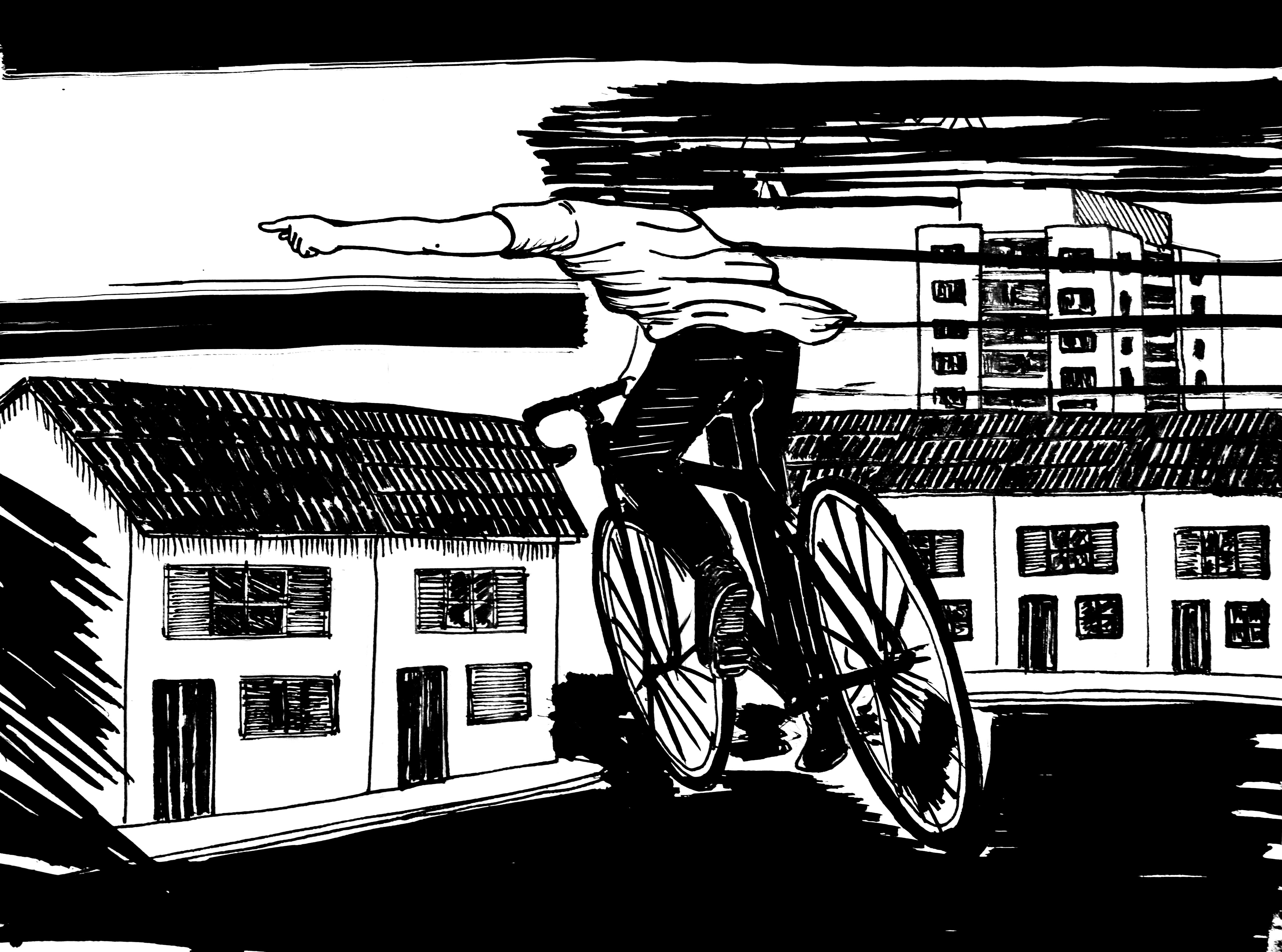 Ocupação Artística - Ciclista Gigante